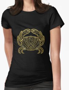 Cancer gold Womens Fitted T-Shirt