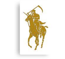grim reaper polo back Canvas Print
