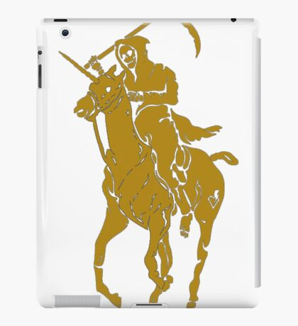 grim reaper polo back iPad Case/Skin