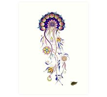 Ornamented JellyFish Art Print