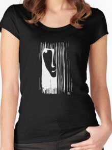 Woman (white) Women's Fitted Scoop T-Shirt