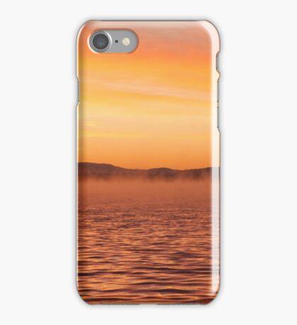 Fishermen on the lake iPhone Case/Skin