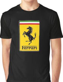Ferrari Logo Graphic T-Shirt
