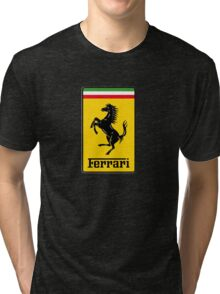 Ferrari Logo Tri-blend T-Shirt