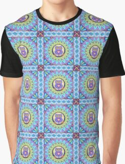Little Purple Owl Mandala Graphic T-Shirt