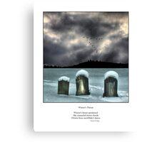 Winter's Thrust Haiku Canvas Print