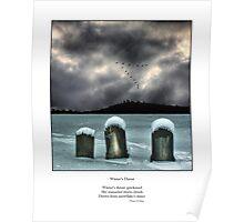 Winter's Thrust Haiku Poster