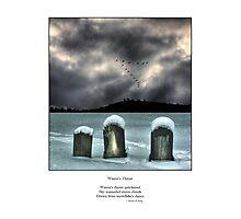 Winter's Thrust Haiku Photographic Print