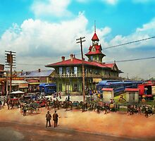 Train Station - Louisville and Nashville Railroad 1905 by Mike  Savad