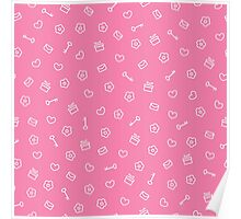 cute seamless valentine pattern Poster