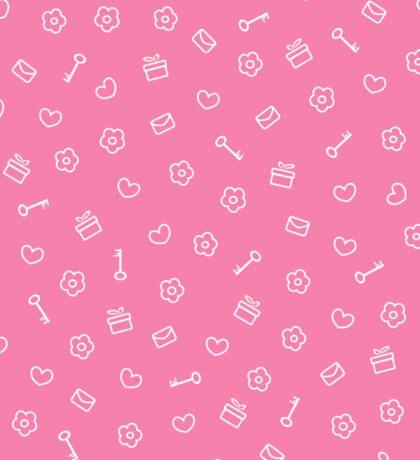 cute seamless valentine pattern Sticker