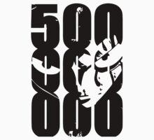 500.000.000 -luffy-  One Piece - Short Sleeve