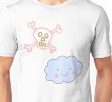 Kawaii Skull Cloud Unisex T-Shirt