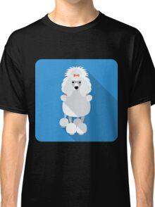 Poodle icon flat design  Classic T-Shirt