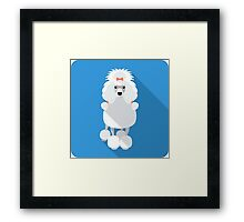 Poodle icon flat design  Framed Print
