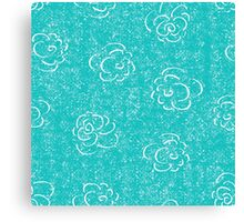 blue rose seamless pattern Canvas Print