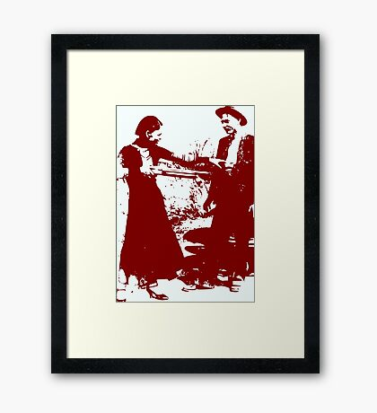 BONNIE AND CLYDE Framed Print