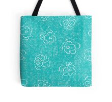 blue rose seamless pattern Tote Bag