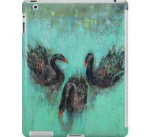Black Swans iPad Case/Skin