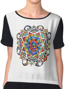 Mandala Bloom Chiffon Top