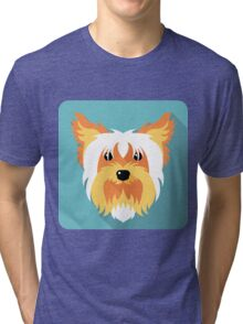 dog Yorkshire terrier icon Tri-blend T-Shirt
