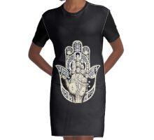 Hamsa Hand Graphic T-Shirt Dress