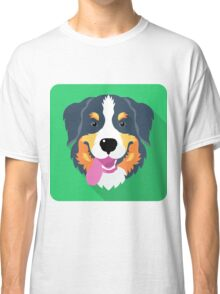 Bernese Mountain Dog icon  Classic T-Shirt