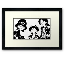 "A S L ""one piece'  Framed Print"
