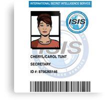 Cheryl/Carol Tunt ID Badge Metal Print