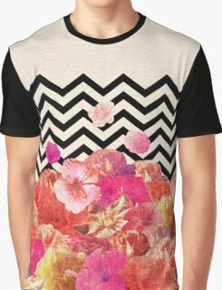 Chevron Flora II Graphic T-Shirt