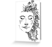 Flowers in Your Hair Greeting Card