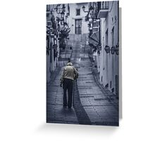 Blue lonely street Greeting Card