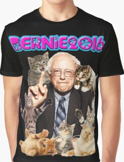 bernie with cats Graphic T-Shirt