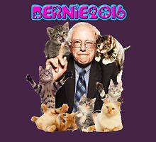 bernie with cats Womens Fitted T-Shirt