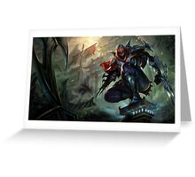 Zed - League of Legends Greeting Card
