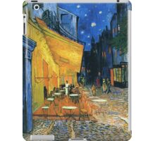 Post-impressionist, Vincent van Gogh, Cafe Terrace at Night iPad Case/Skin