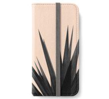 Black Palms on Pale Pink iPhone Wallet/Case/Skin