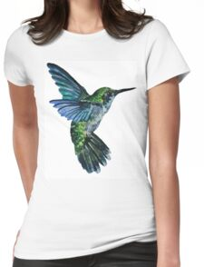 Nature Hummingbird Womens Fitted T-Shirt