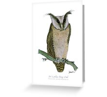 Sri Lanka Bay Owl, tony fernandes Greeting Card