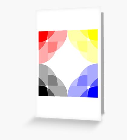 Primary Colours Greeting Card