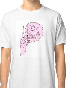 Pink Skull Smoking Classic T-Shirt