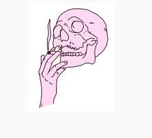Pink Skull Smoking Unisex T-Shirt