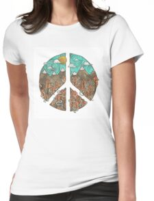 Mountain Peace Womens Fitted T-Shirt