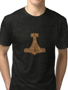 Tree design Mjolnir Tri-blend T-Shirt