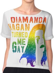 Diamanda Hagan Turned Me Gay (Rainbow) Chiffon Top