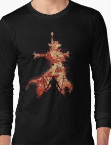 zoro vs mihawk 'one piece' Long Sleeve T-Shirt