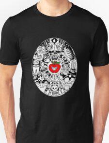 Apple Mandala in Black and White T-Shirt