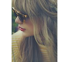 RED GLASSES  Photographic Print