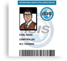 Cyril Figgus ID Badge Canvas Print