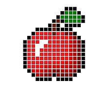 8 bit pixel apple Photographic Print